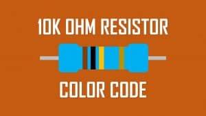 10k ohm resistor color code