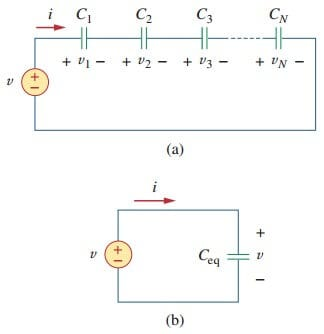 capacitors in series and parallel examples